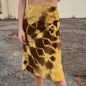Neiman Marcus Tie Dye Leather Skirt